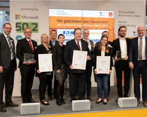 Die Gewinner des Industrial Energy Efficiency Award an der Hannover Messe. ©Bild: Hannover Messe