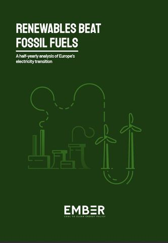 "Mehr Details finden Sie im  Ember-Bericht ""Renewables beatfossil fuels - A half-yearly analysis of Europe's electricity transition"" - Link am Textende. Bild: Ember"