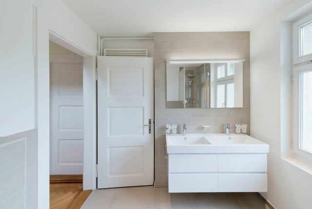 Das Neue Badezimmer Im Altbau. ©Bild: René Rötheli, Baden